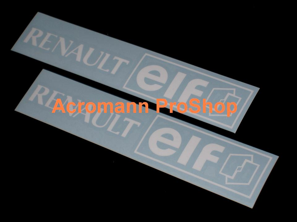 Renault elf 6inch Decal x 2 pcs